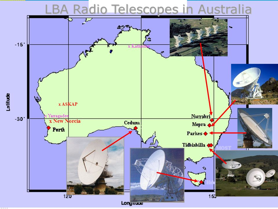 LBA Radio Telescopes in Australia