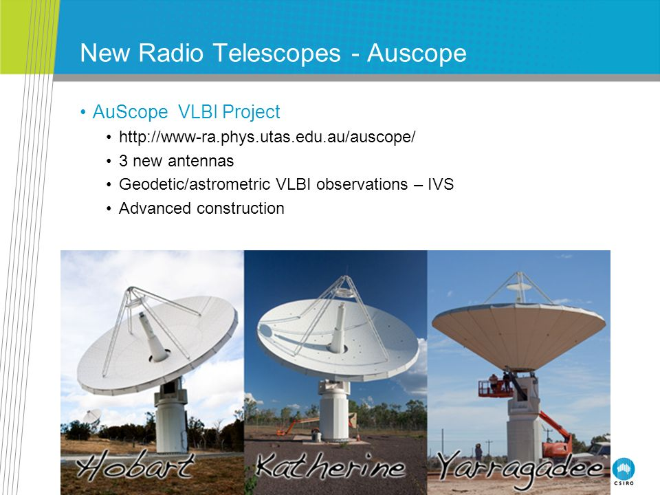 New Radio Telescopes - Auscope
