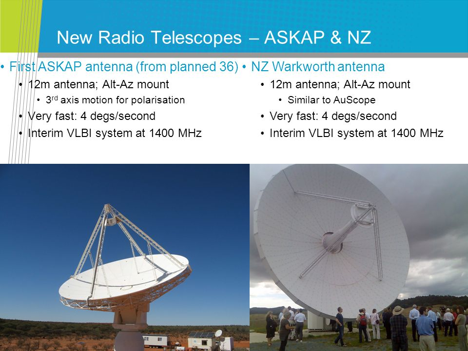New Radio Telescopes – ASKAP & NZ