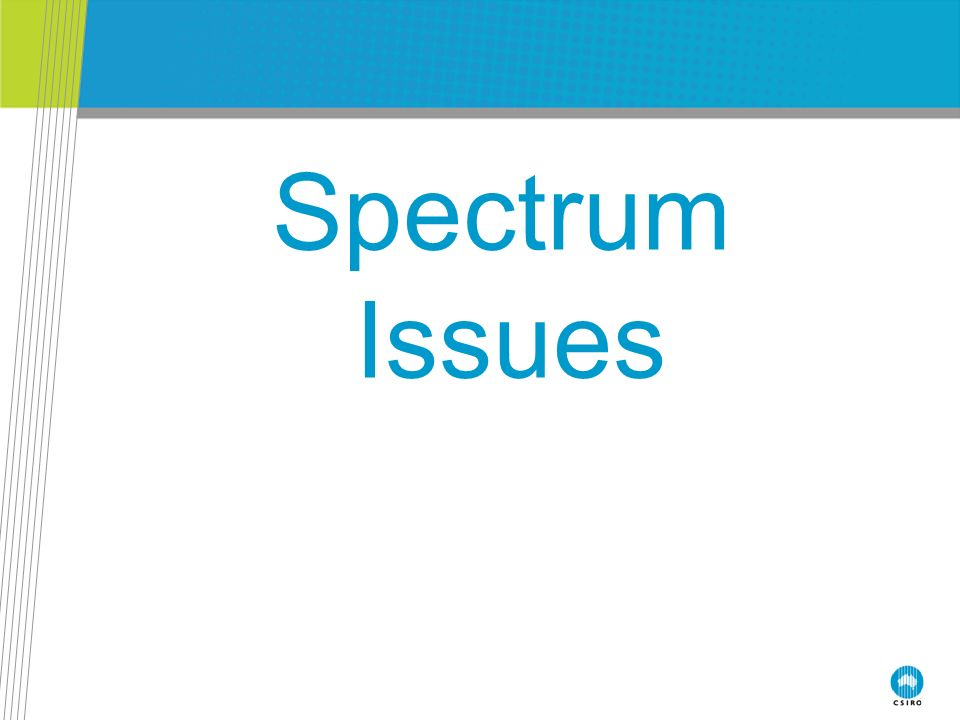 Spectrum Issues