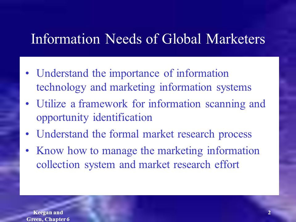 importance of global marketing research