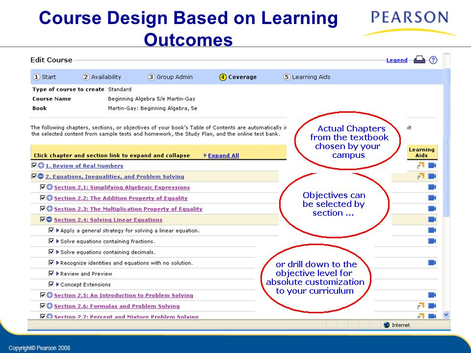 Course Design Based on Learning Outcomes