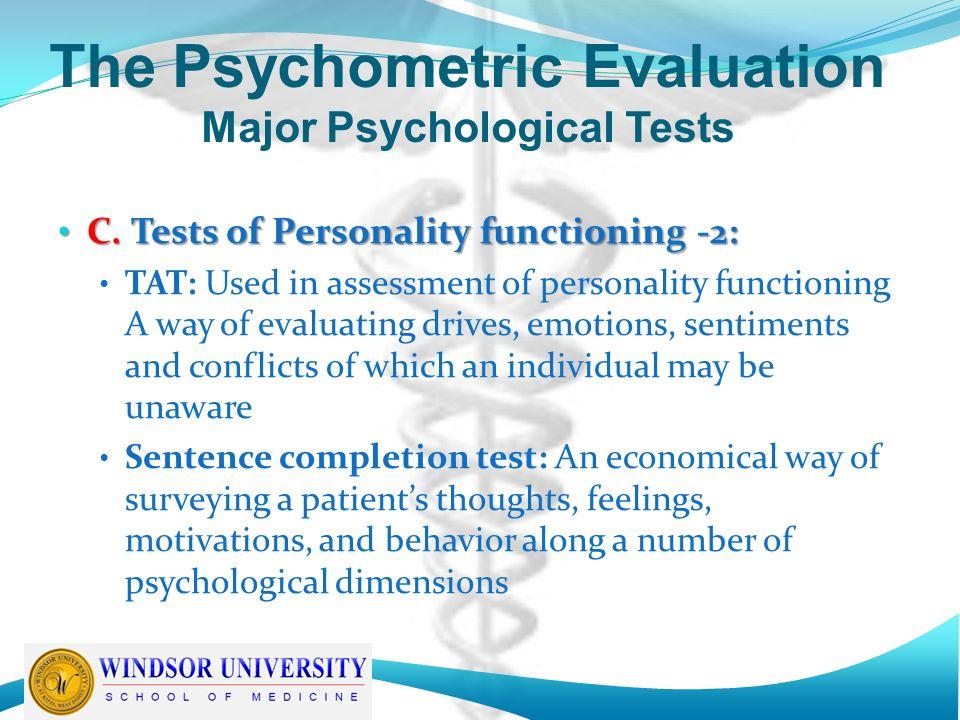 sentence completion test psychology