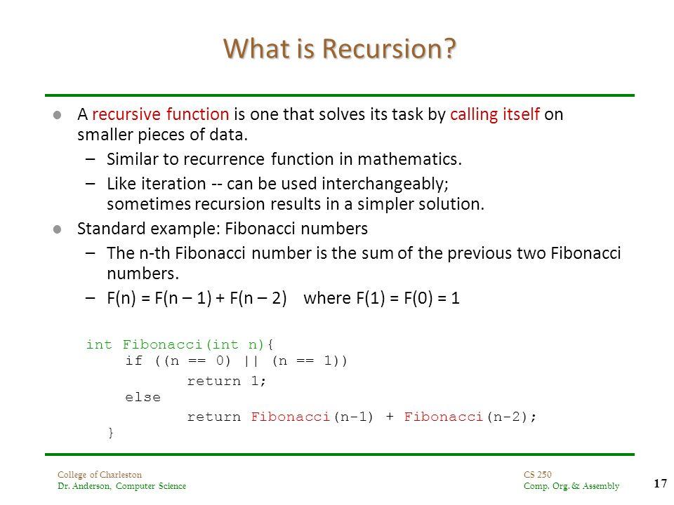 Fibonacci Series Using Recursion In Assembly Language