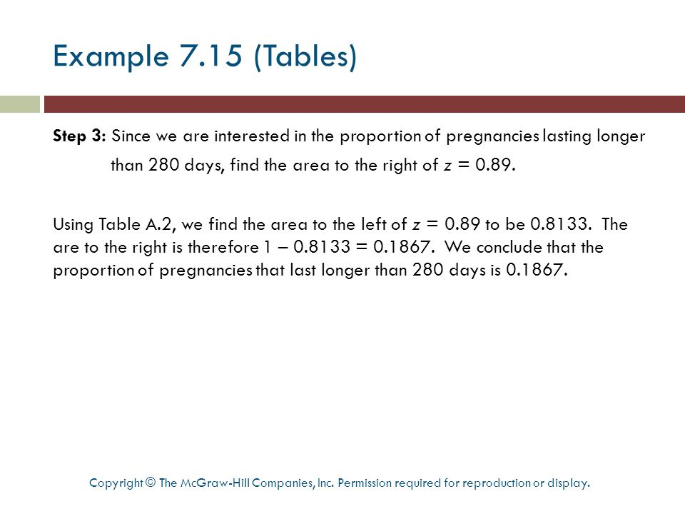 Example 7.15 (Tables)