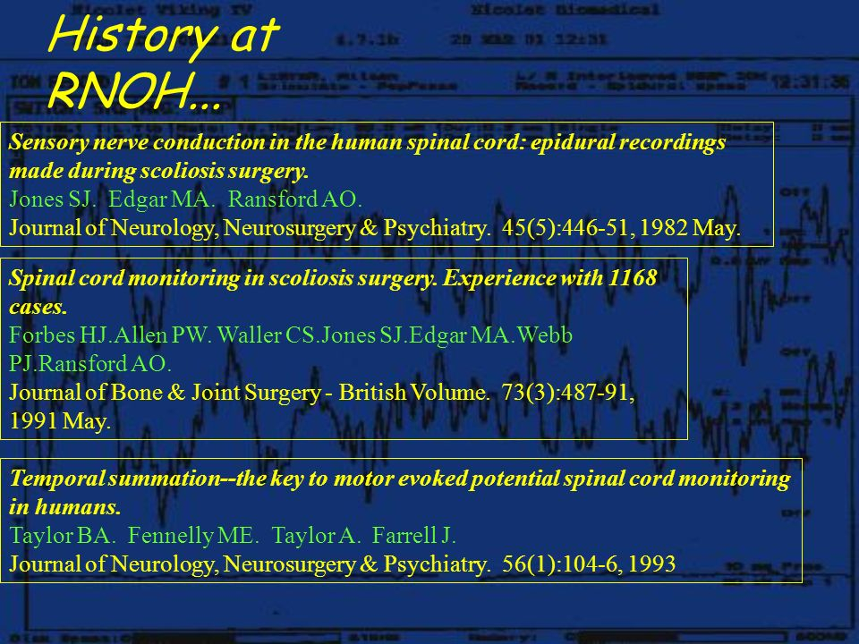 Spinal Cord Monitoring - ppt download
