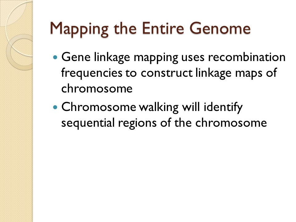 Mapping the Entire Genome