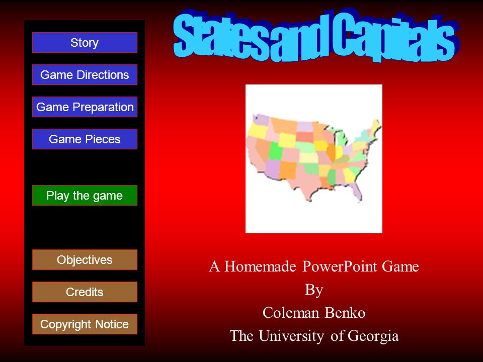 A Homemade PowerPoint Game By Coleman Benko The University of Georgia