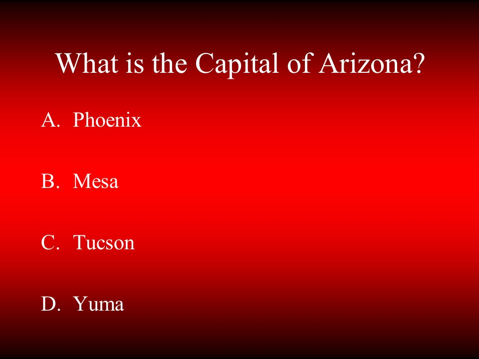 What is the Capital of Arizona