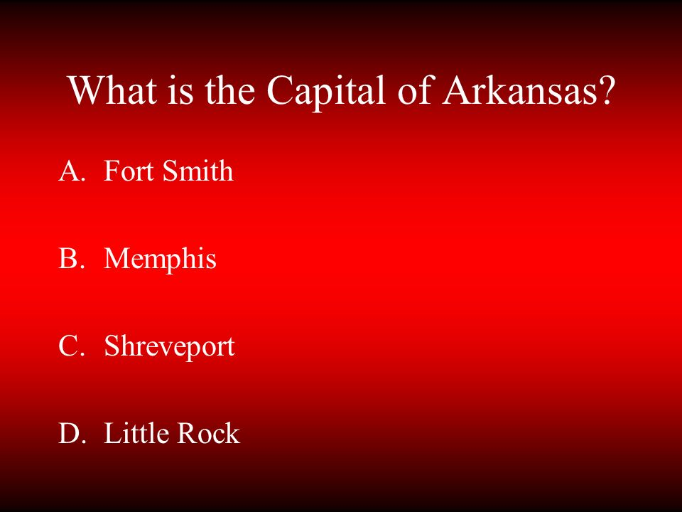 What is the Capital of Arkansas