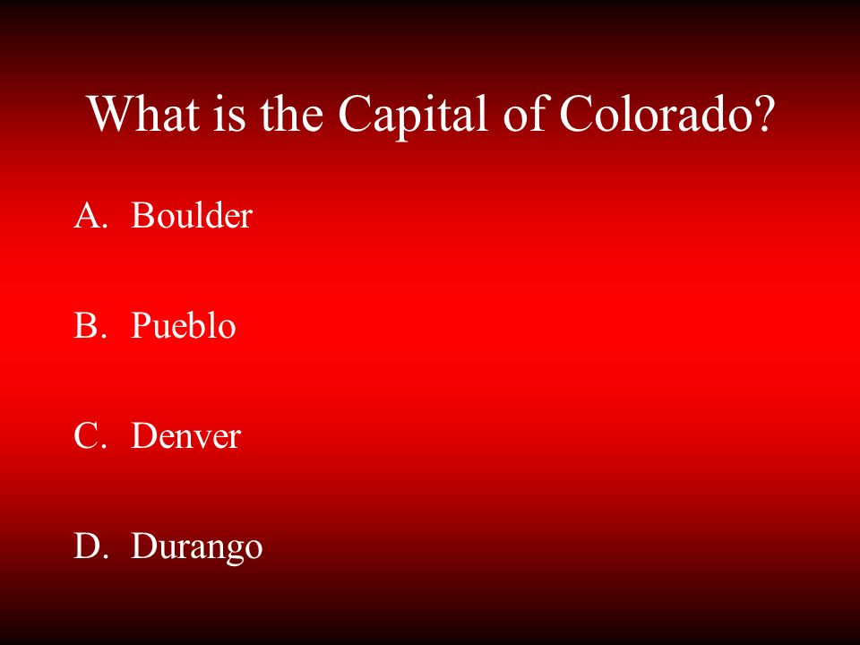 What is the Capital of Colorado