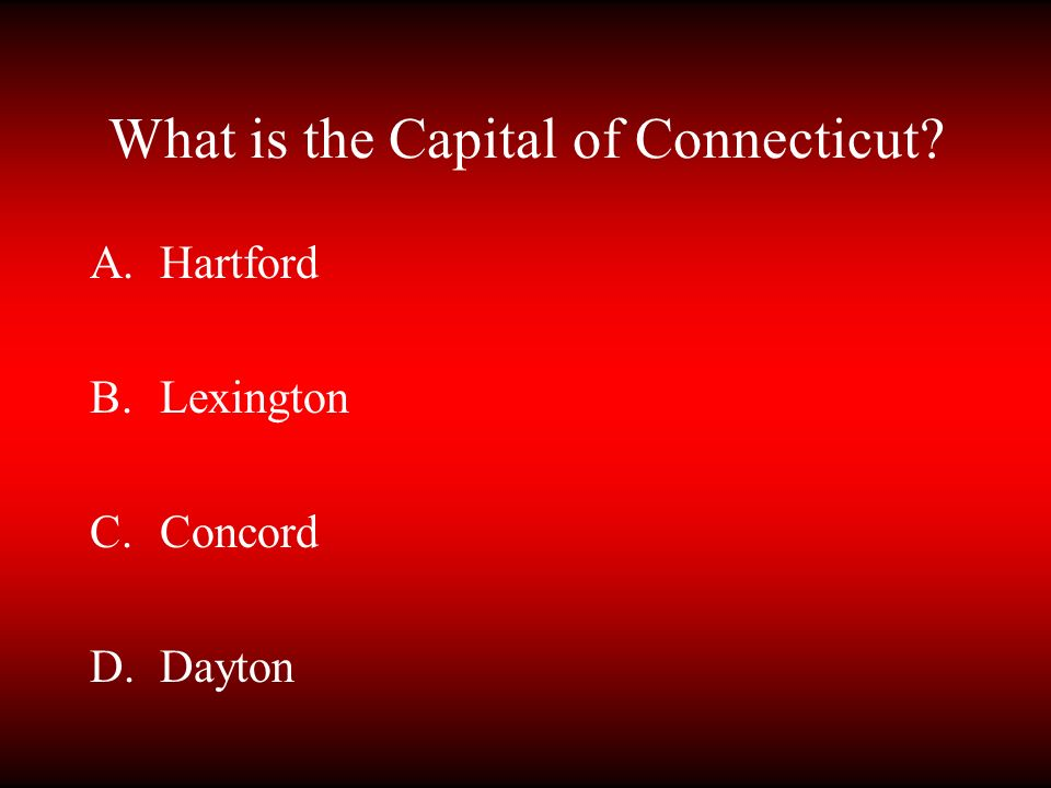 What is the Capital of Connecticut