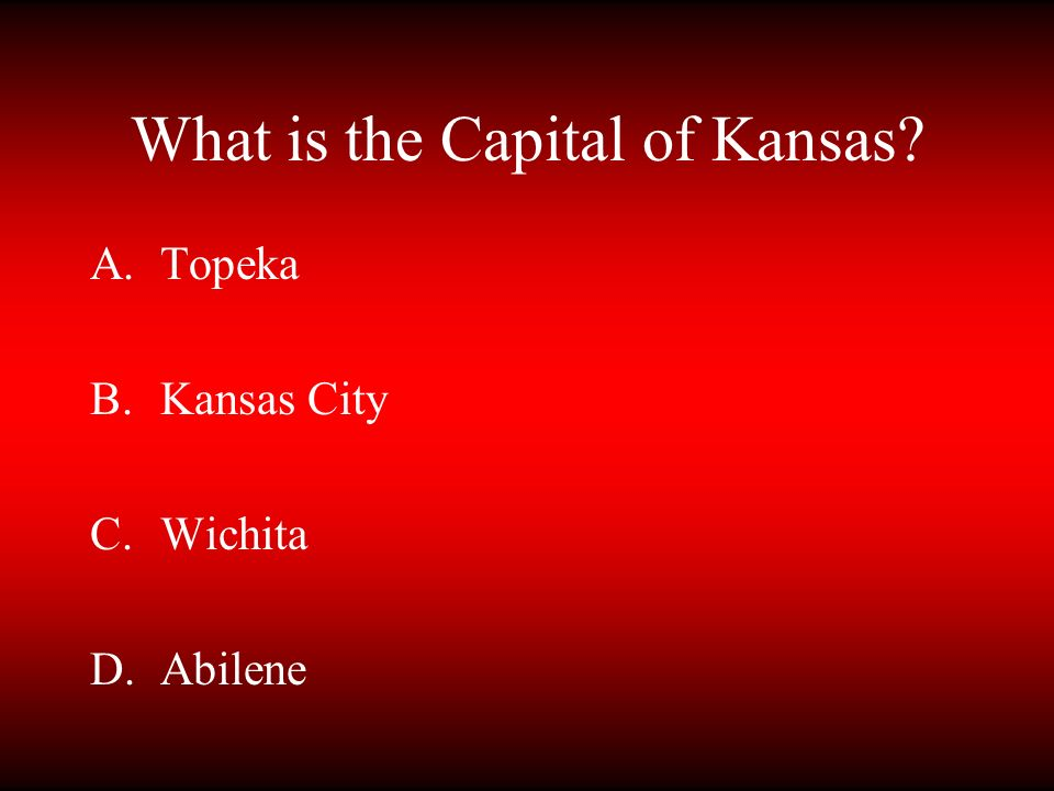 What is the Capital of Kansas