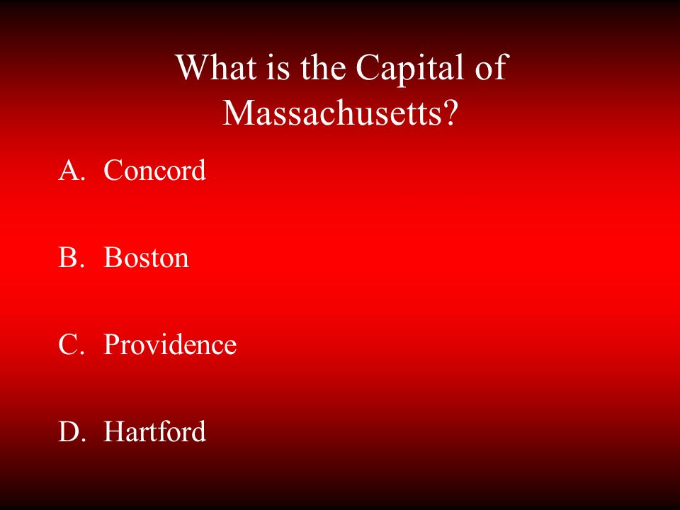 What is the Capital of Massachusetts