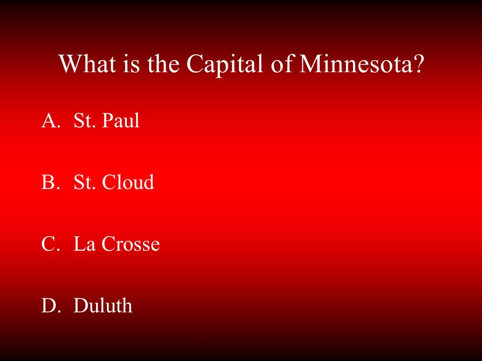 What is the Capital of Minnesota