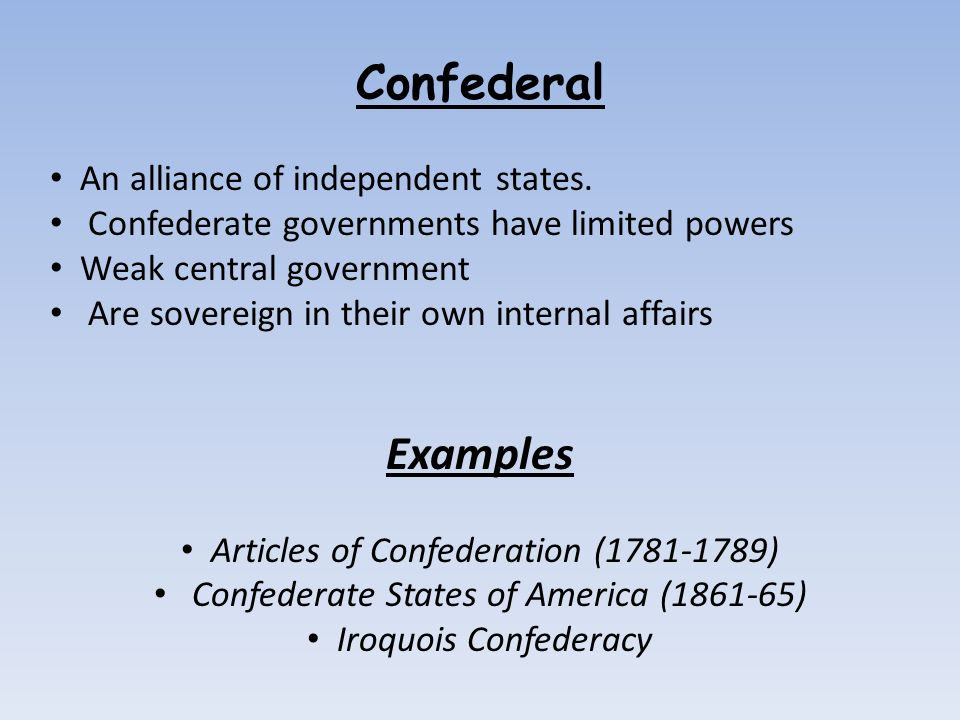 Confederal Unitary And Federal Ppt Video Online Download