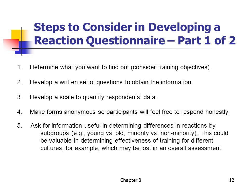 training effectiveness questionnaire