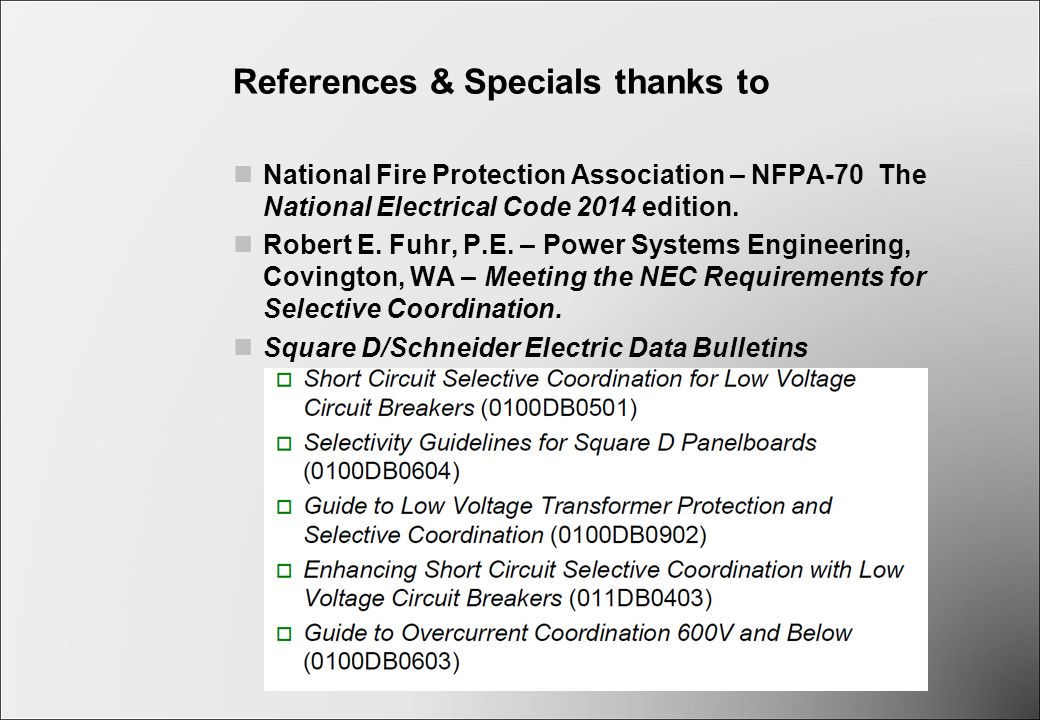 Selective Coordination of Overcurrent Protective Devices - ppt video ...