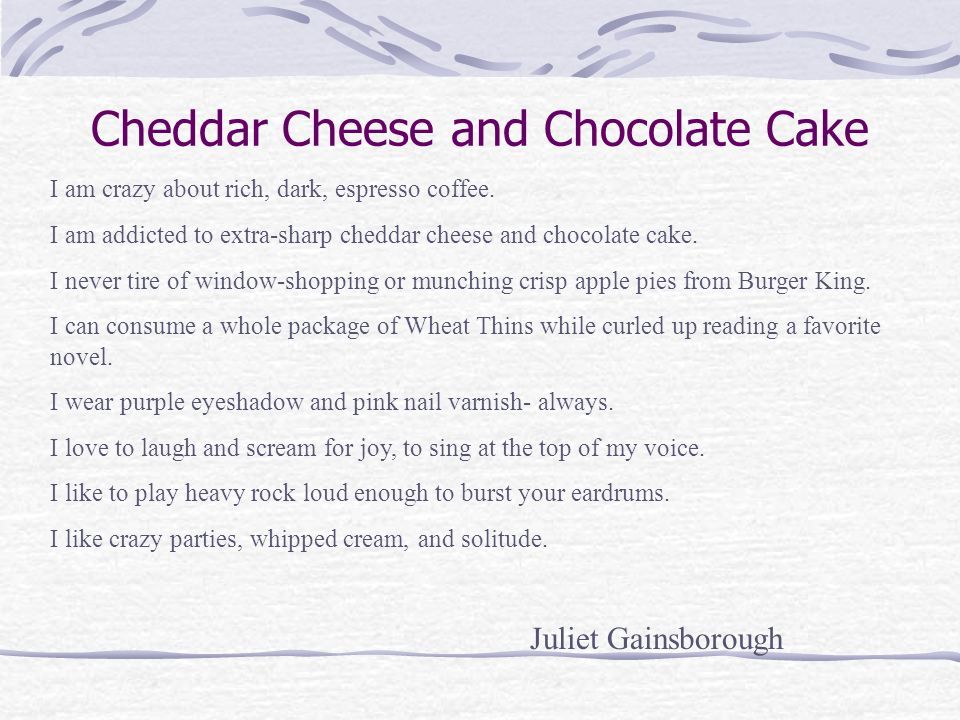 Cheddar Cheese and Chocolate Cake