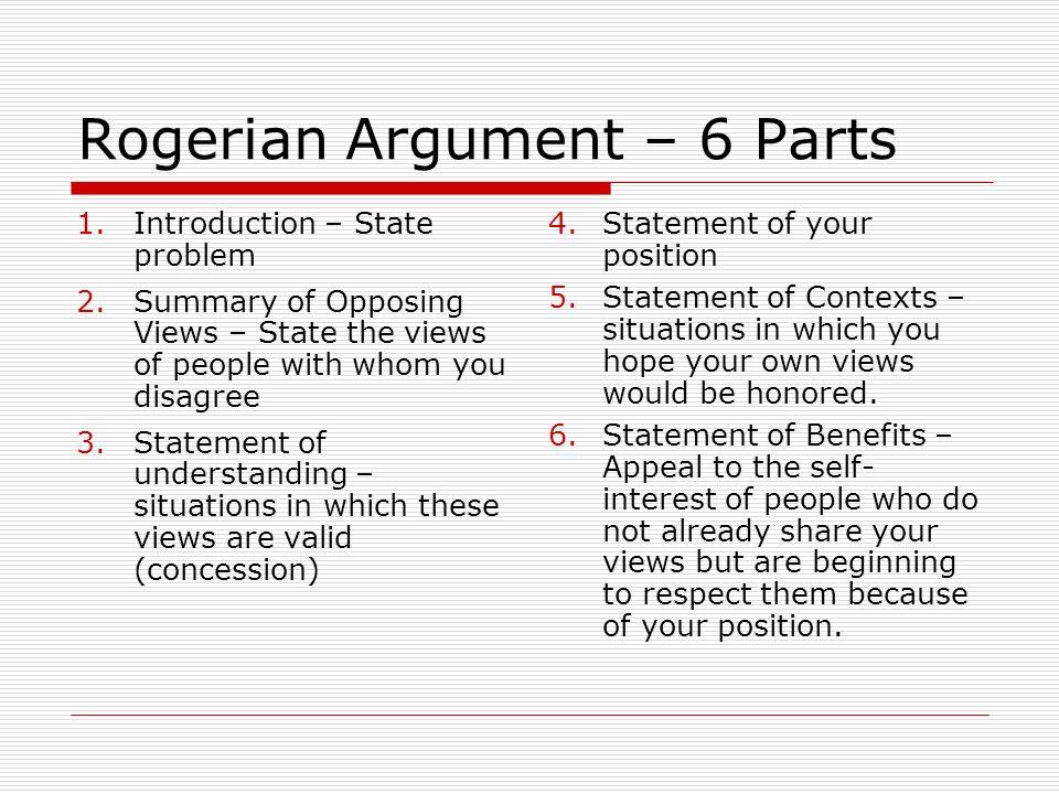 rogerian argument outline