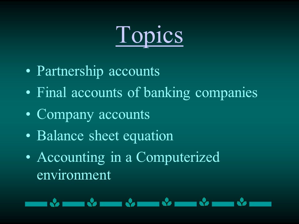 accounting topics for presentation
