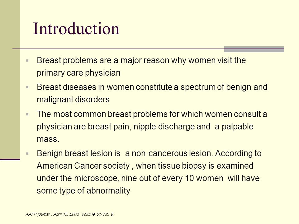 What are benign breast conditions