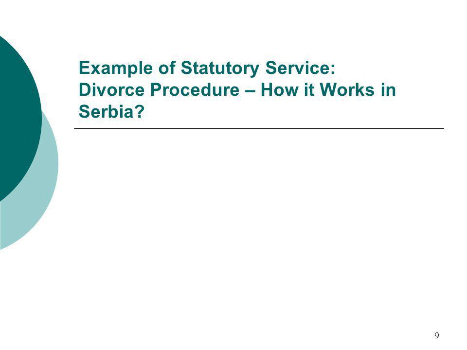Example of Statutory Service: Divorce Procedure – How it Works in Serbia