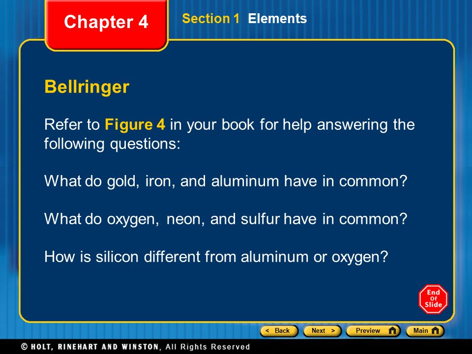 Chapter 4 Preview Section 1 Elements Section 2 Compounds ...