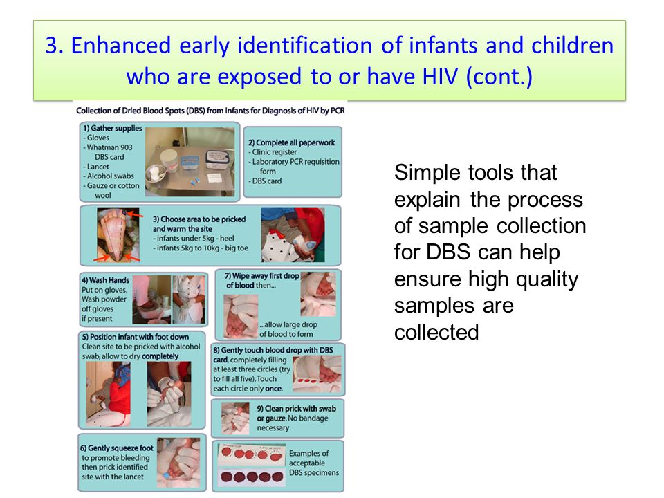 3. Enhanced early identification of infants and children who are exposed to or have HIV (cont.)