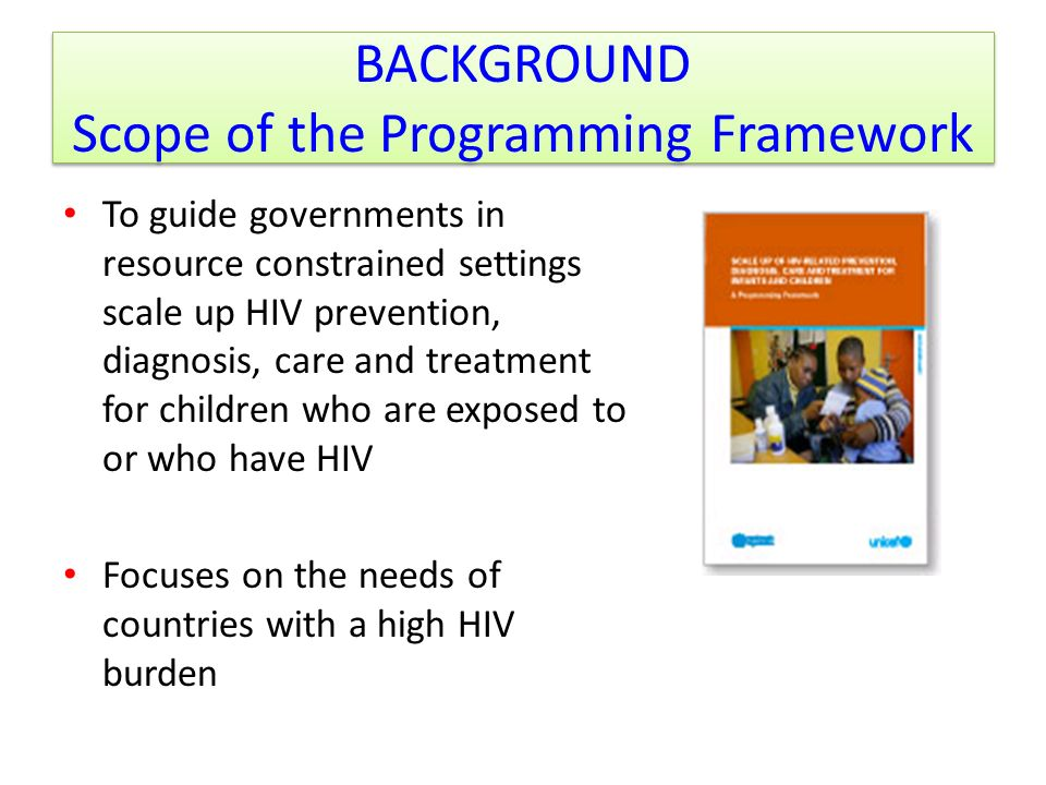 BACKGROUND Scope of the Programming Framework