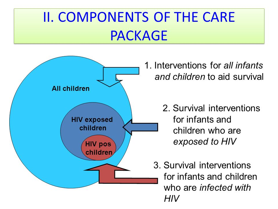 II. COMPONENTS OF THE CARE PACKAGE