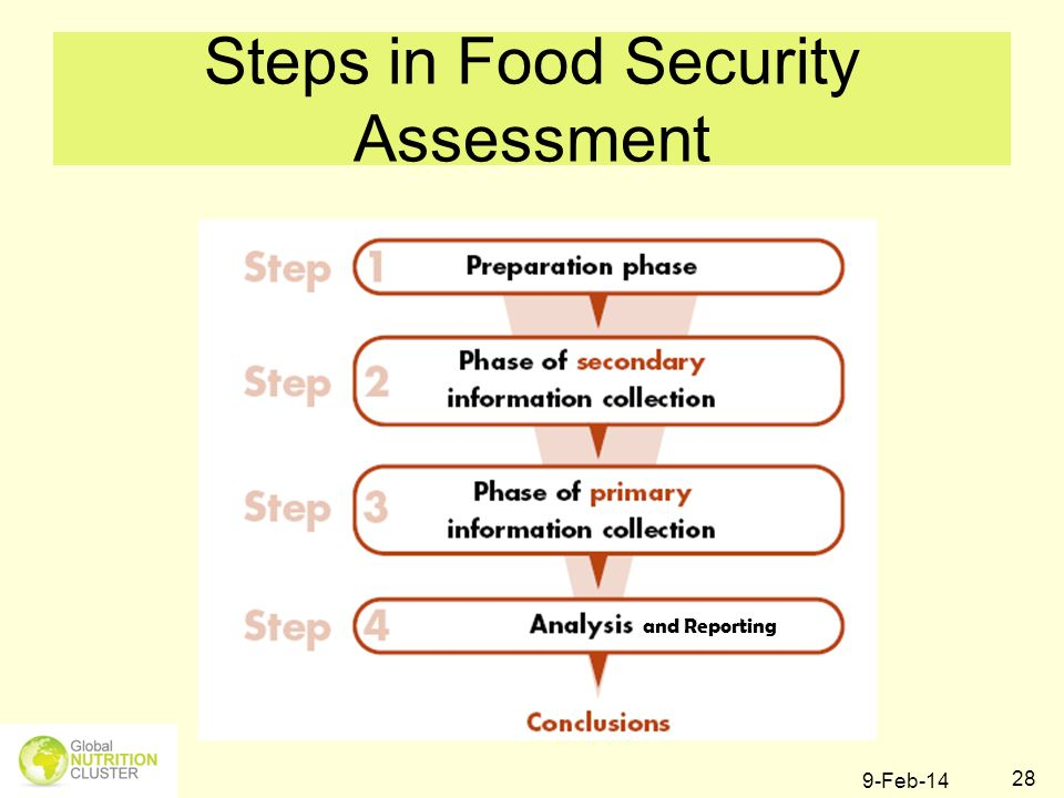 Steps in Food Security Assessment