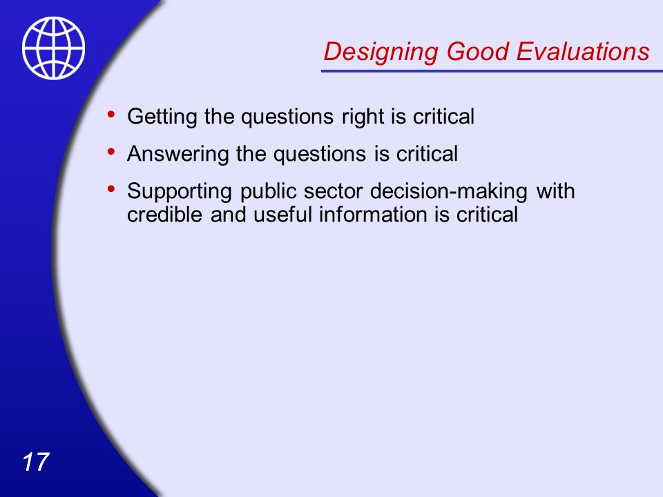 Designing Good Evaluations