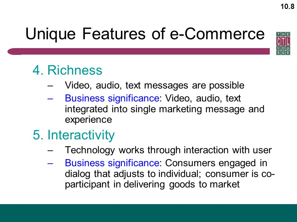 8 unique features of e commerce