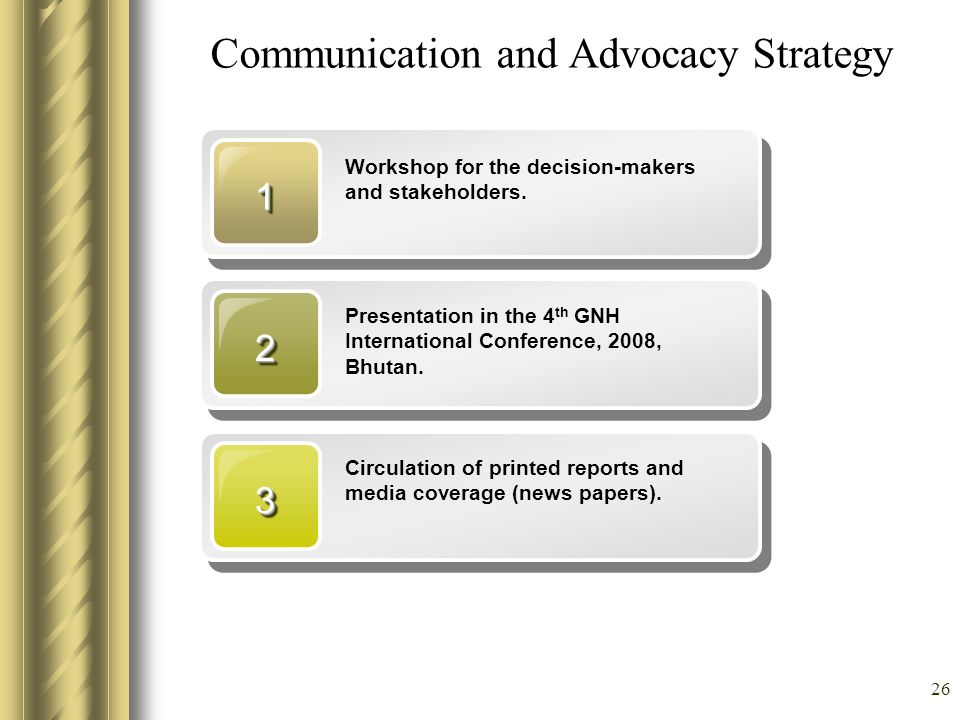 Communication and Advocacy Strategy