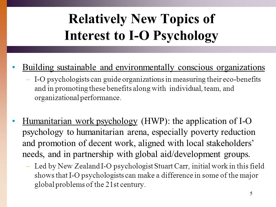 industrial psychology topics