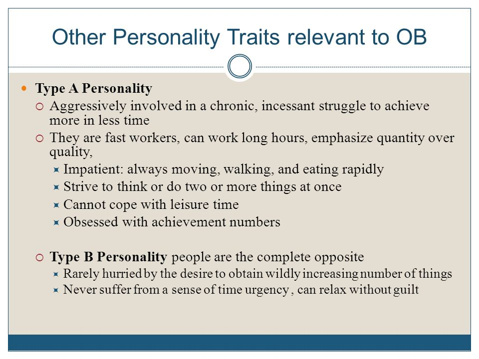 type b personality traits