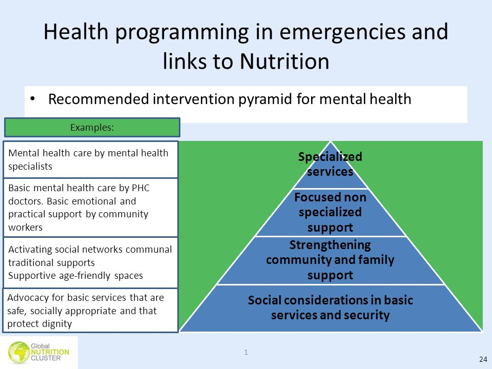Health programming in emergencies and links to Nutrition
