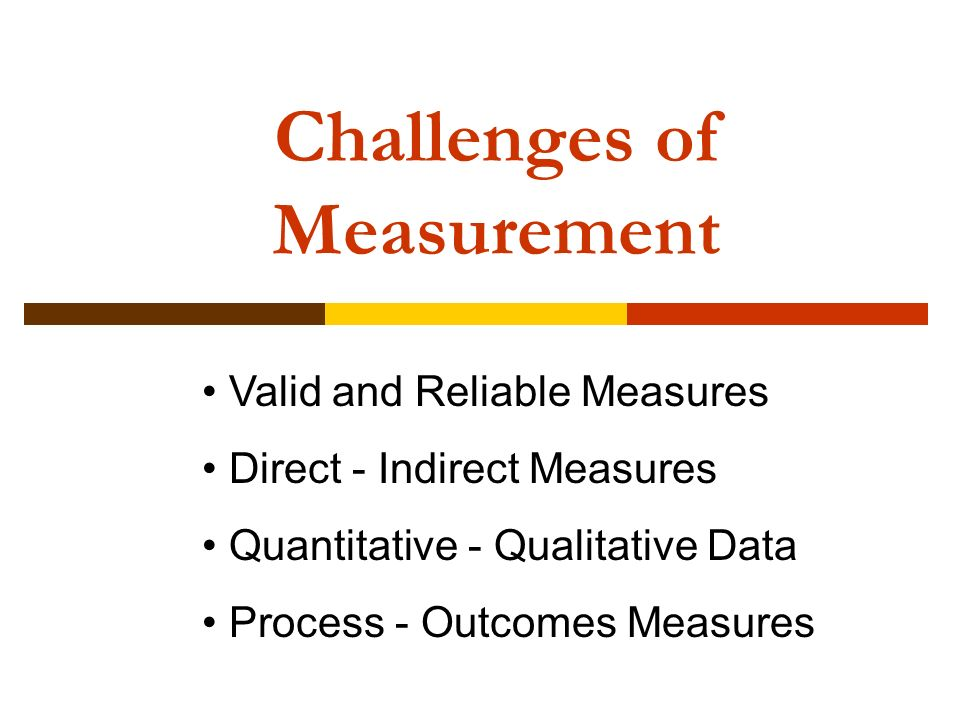 Challenges of Measurement