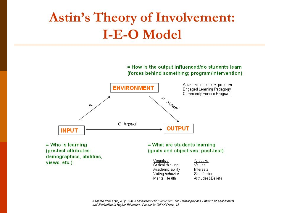 Astin's Theory of Involvement: I-E-O Model