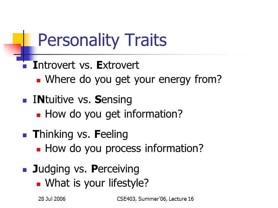 lecture 16 personality types and stereotypes ppt download