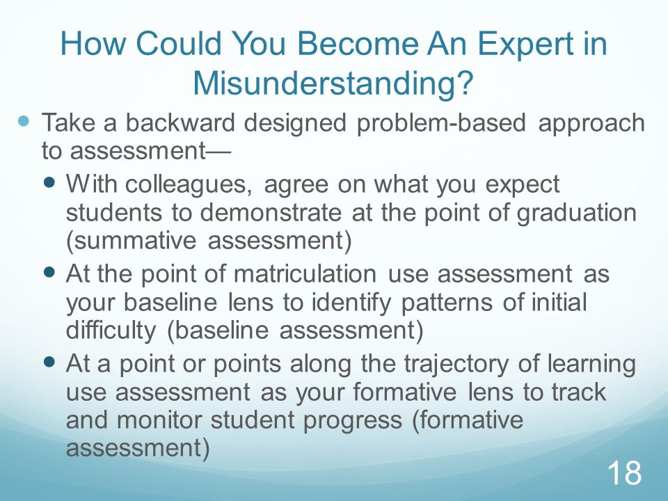 How Could You Become An Expert in Misunderstanding