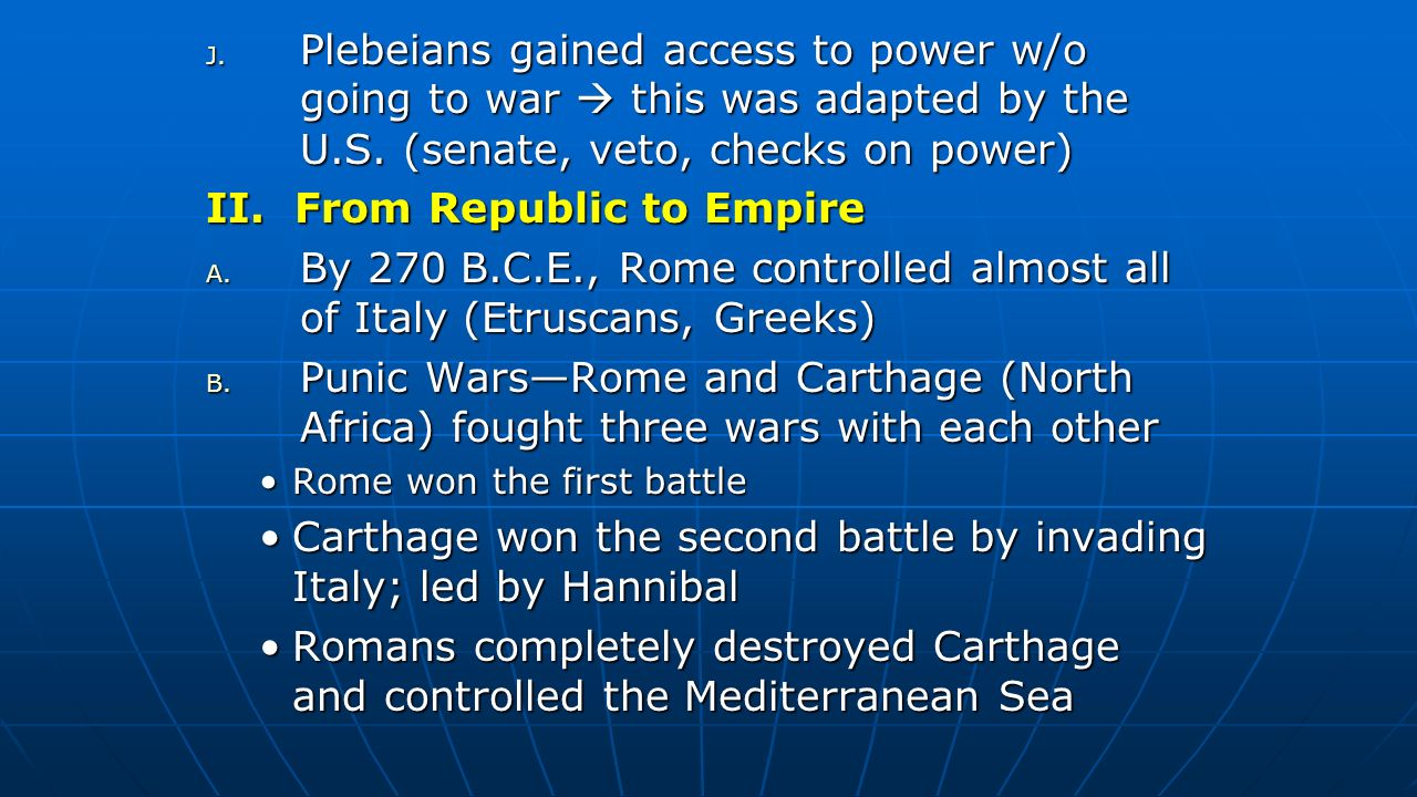 II. From Republic to Empire