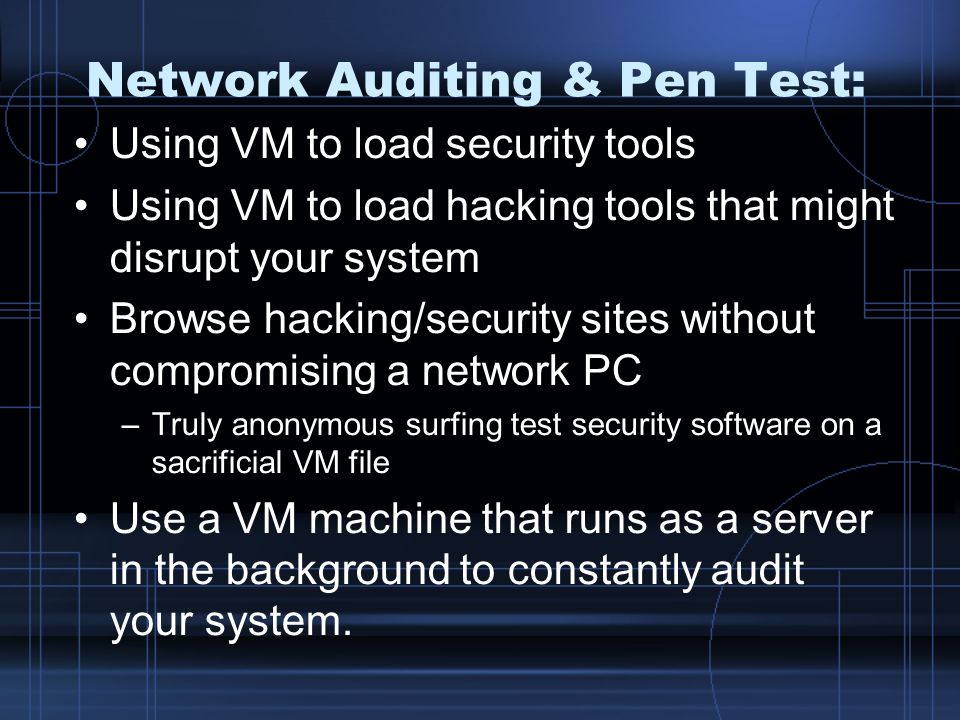 Network Auditing & Pen Test: