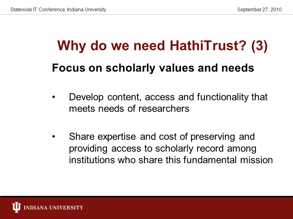 Why do we need HathiTrust (3)