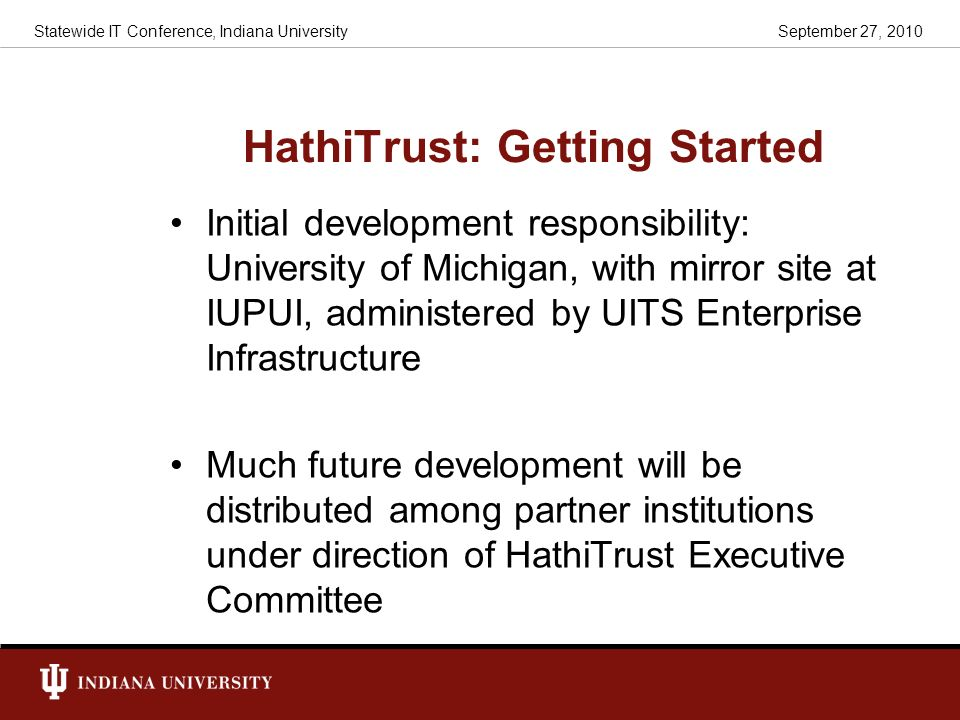 HathiTrust: Getting Started