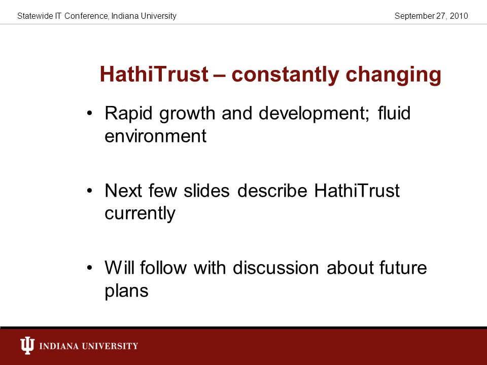 HathiTrust – constantly changing