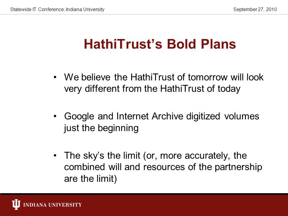 HathiTrust's Bold Plans