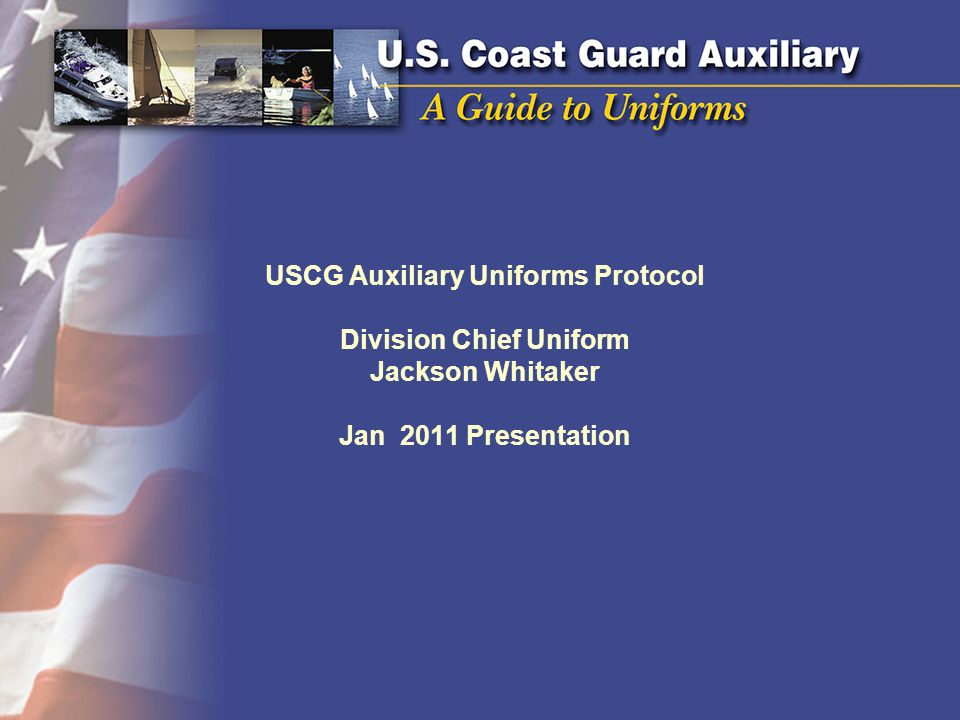 USCG Auxiliary Uniforms Protocol Division Chief Uniform