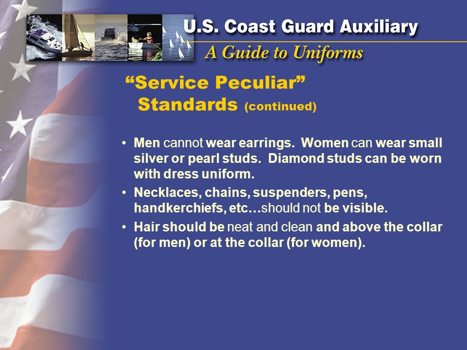 Service Peculiar Standards (continued)